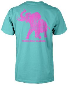 Lagoon Blue/Hot Pink Pachyderm Collection Comfort Color S/S Tee