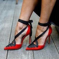 7412445d1724 Lace-Up Red Women s Stiletto Heels - US 8.5   EU 39   UK 6.5
