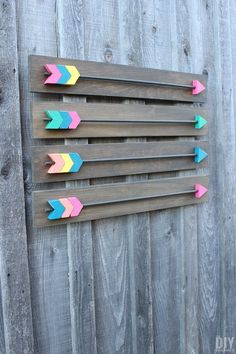 Make your own Arrow Wall Decor! Fabulous DIY Wood Arrows Wall Art tutorial! Arrows were painted with BEHR Paint. Includes FREE Arrow Template! P.S. This makes a great gift idea, even a wedding gift! / thediydreamer.com