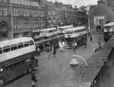 THIS is Newport's Upper Dock Street bus station. The 'Then' photo dates from the prominent are the new Alexander bodied Leyland… Newport Gwent, Newport Wales, Bus Station, Black And White Pictures, Cardiff, South Wales, Welsh, Bristol, Old Photos