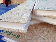 Paul Bancroft Architects SIPs House Close up of panel construction Woodnewton Northamptonshire