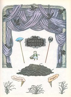 Goreyana: The Worsted Monster by Edward Gorey Edward Gorey Books, Wordless Book, Ink Pen Drawings, Halloween Town, Book Cover Design, Graphic Illustration, Cover Art, Illustrators, Elephant