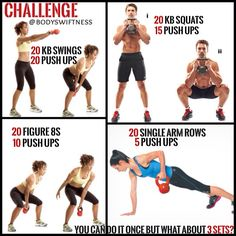 Grab a kettlebell and try out this great fat burning full body routine. It's always good to surprise the body now and again and change things up. Doing this makes the body more susceptible to change and burn more calories trying to recruit muscle fibres you probably don't use as much. This challenge can be done by anyone ONCE but who can manage 3 sets?