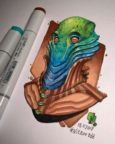 Speaker of Bluemulanian race. His magnificent whistle gave a hope to all nation in dark times. Alien inspired by George Washington silhouette. Badass Drawings, Copic Art, Sketch A Day, Sketch Painting, Monster Art, Dark Wallpaper, Marker Art, Copics, Cartoon Styles