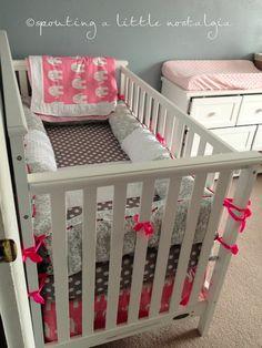 Pink grey elephant nursery Sprouting a Little Nostalgia