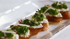 Bruschetta is a party appetizer favorite, and our sweet pea version is no exception. Watch to learn how to make the wow-worthy starter.  /