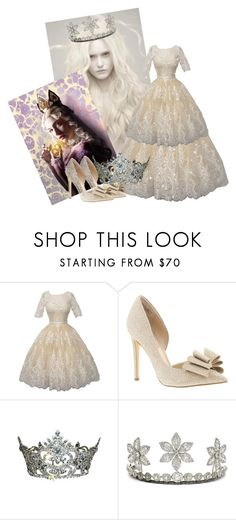 """""""white queen alice in wonderland"""" by atenaide86 ❤ liked on Polyvore featuring Betsey Johnson"""