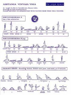 Ashtanga Vinyasa Yoga. Can do this sequence at home.