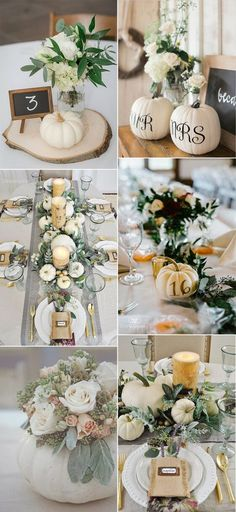 pumkins inspired fall wedding centerpieces for 2019 wedding pumpkins 16 Gorgeous Fall Wedding Centerpieces for 2019 Trends - EmmaLovesWeddings Lilac Wedding, Fall Wedding Flowers, Autumn Wedding, Wedding Greenery, Wedding Colors, Dream Wedding, Barn Wedding Centerpieces, Rustic Fall Centerpieces, Wedding Ideas