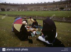 A wet picnic at Bath s Royal Crescent, UK Stock Photo Uk Images, Dolores Park, Picnic, Bath, Stock Photos, Travel, Bathing, Viajes, Picnics
