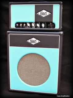 """The hardest working amp at West Street Digital Productions, affectionately known as """"Aquaman"""" see more at haasamps.com #amps #guitar #tubeamps #customamps"""