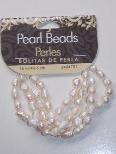 White Freshwater Pearl Beads by EriniJewel on Etsy, $3.00