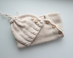 Newborn sweater and hat. Newborn gift. Puerperium Cardigan and hat.Natural antibacterial. eco friendly.