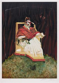 FRANCIS BACON, Study for a Portrait of Pope Innocent, 1989
