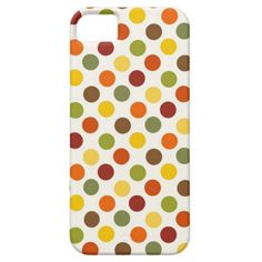 Pretty Fall Autumn Colors Polka Dots Pattern iPhone 5/5S Cases SOLD on Zazzle