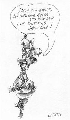 Caricatura de Zapata en la página de Opinión. Caracas,  21-06-2004. (PEDRO LEON ZAPATA / EL NACIONAL).