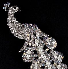 crystal peacock pin