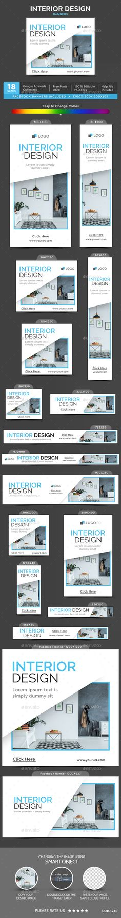Interior Banners Template PSD #design