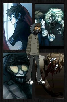 Ticci Toby >>>Sorry if I'm posting stuff, but you have a garden that… Creepypasta Slenderman, Creepypasta Characters, Eyeless Jack, Jeff The Killer, Creepypastas Ticci Toby, Yolo, Creepy Pasta Family, Ben Drowned, Memes