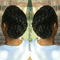 Simple & Elegant Goddess Braid Bun
