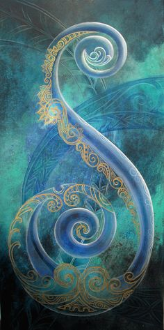 Regal Koru By Reina Cottier Art Print by Reina Cottier. All prints are professionally printed, packaged, and shipped within 3 - 4 business days. Choose from multiple sizes and hundreds of frame and mat options. Koru Tattoo, Thai Tattoo, Maori Symbols, Maori Patterns, Zealand Tattoo, Polynesian Art, Mandala, Maori Designs, New Zealand Art