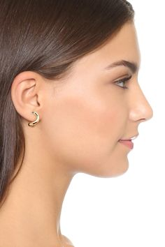 -The Elizabeth and James Ellie Earrings are a fabulous finishing touch to any ensemble.    -Polished gold-plated metal.  -Sparkling white topaz.  -Post backs.  -Imported.  -Measurements:   Width: 1?7 in  Height: 5?8 in  Weight: 0.1 oz Ellie Stud Earrings  by Elizabeth & James. Accessories - Jewelry - Earrings - Studs Accessories - Jewelry - Earrings - Statement Dallas Texas