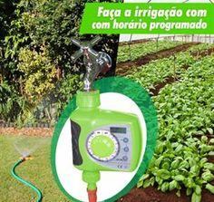 Temporizador Eletrônico de Irrigação - 11608 - Ecoforce  Um produto, várias soluções!! Faça a irrigação do seu jardim, gramado, horta ou plantação com hora programada. Garanta que o vasilhame de água dos seus animais esteja sempre cheio. Bloqueia e libera o fluxo de água automaticamente.