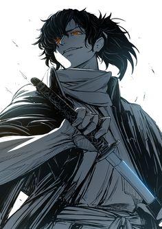Samurai Anime, Samurai Art, Anime Oc, Katana, Anime People, Anime Guys, Robot Militar, Fantasy Characters, Anime Characters