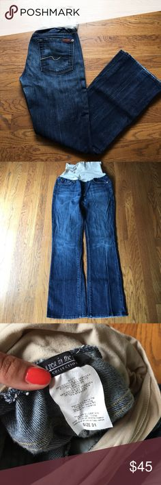 7 For All Mankind maternity jeans 7 For All Mankind for A Pea in the Pod jeans with secret fit belly 7 For All Mankind Jeans Boot Cut