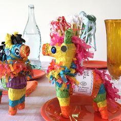For tabletop or gift. Refillable table top piñata for decorating or gifting. Hidden sweets and prizes inside. For adults & kids over 3 ( small parts). After you find your treats and prizes, you can re
