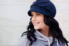 Tucks Hat- navy wool tweed- $50.00,