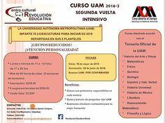 CURSO UAM-SEGUNDA VUELTA 2016  #Curso, #Segunda, #Vuelta, #2016