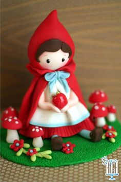 Little red - fondant topper by Sugar High Inc - Andersruff design