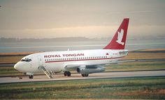 Royal Tongan Airways Boeing 737-200 parked, Auckland International Airport