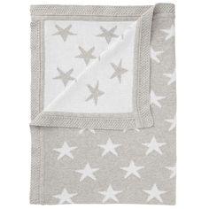 BuyJohn Lewis Baby Star Knit Blanket, 75 x 100cm, Grey Online at johnlewis.com
