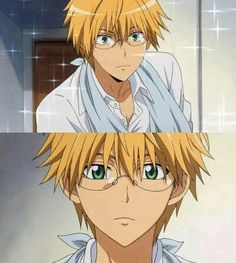 Want to know who the Cutest Anime Guys with Glasses are? Then go ahead and read on, you won't be disappointed! I'm a sucker for cute anime guys with glasses, so Hot Anime Boy, Cute Anime Guys, Anime Love, Maid Sama Manga, Anime Maid, Killua, Badass Anime, Anime Sexy, Wedding Couple Cartoon
