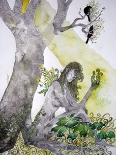 Spring earth woman