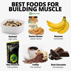 Food To Gain Muscle, Muscle Building Foods, Muscle Food, Build Muscle, Muscle Fitness, Food For Muscle Growth, Muscle Diet, Muscle Protein, Men's Fitness