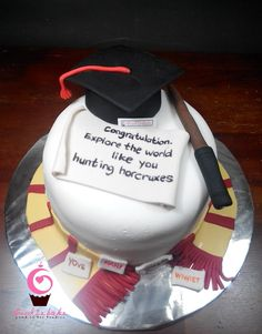 Harry Potter graduation cake made by Sweet Stuff Cakery Yummy