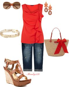 Red, created by mandys120 on Polyvore
