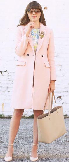 Emilee Anne Embelllished Vintage Pastel Coat Holiday Style Inspo