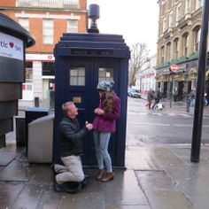 Chris & Emma in central London!!!  Dr Who?