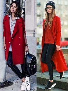¿Qué refleja el color de tu ropa?  El rojo comunica energía, fuerza, coraje y poder. Sandy Style, Autumn Winter Fashion, Fall Winter, Winter Outfits, Casual Outfits, Athleisure, Portrait Photography, Coats, My Style