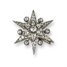 A late Victorian diamond star brooch pendant