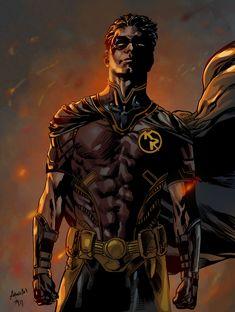 Robin - Tim Goernert and Antonio Art Marvel Dc Comics, Dc Comics Art, Robin Comics, Robin Dc, Batman Robin, Robin Superhero, Robin Tim Drake, Batman Art, Superman