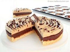 Tarte au chocolat, praliné noisettes