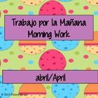 This a 20-page morning work routine packet that you can do with your students at the start of each day. The morning work includes English and Spani...