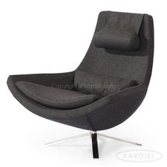 Retropolitan Modern Lounge Wing Chair Charcoal Cashmere Wool