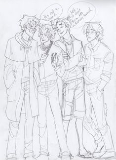 Harry Potter, Jace (Mortal Instruments), Percy (Percy Jackson :DDDD), and Peeta (Hunger Games).