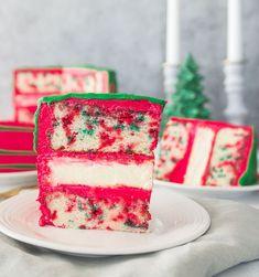 Christmas Funfetti Cheesecake Layer Cake